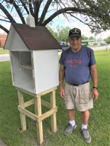 Photo of John Muessig and Blessing Box
