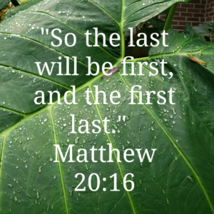 scripture image for Matthew 20:16