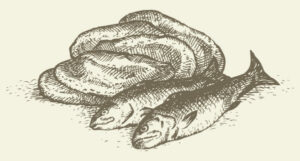 image of five loaves, two fish